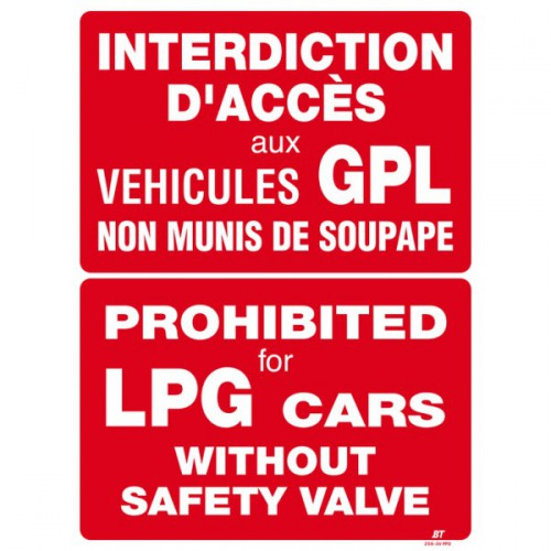 Interdiction d'accès vertical (2 langues)