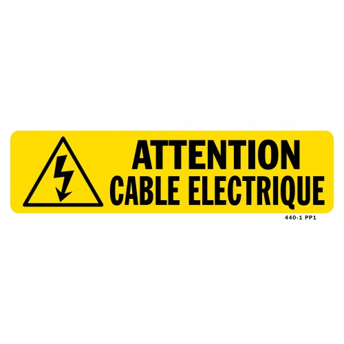 Attention cable electrique